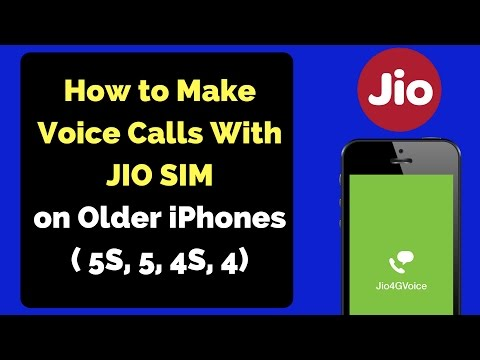 How to Make Voice Calls With JIO SIM on Older iPhones (5S, 5, 4S, 4)