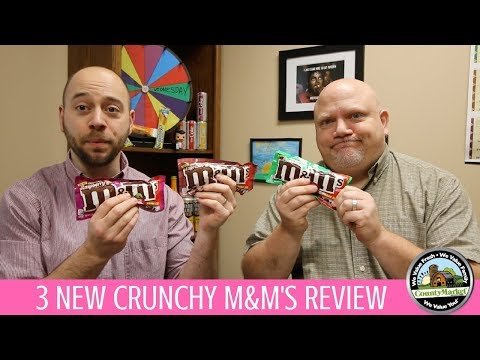 Crunchy M&M's: Espresso, Mint and Raspberry M&M Flavors First Taste Review