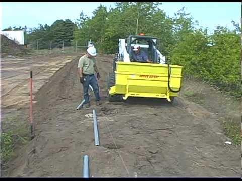 Using an Auger Bucket to dispense cement