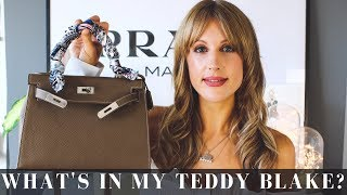 90159cb2148 WHAT S IN MY HANDBAG - Teddy Blake New York Eva 11 in Beige   Silver (