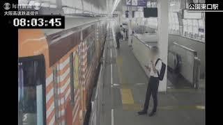 大阪北部地震:発生時の駅構内映像公開 大阪モノレール(提供)