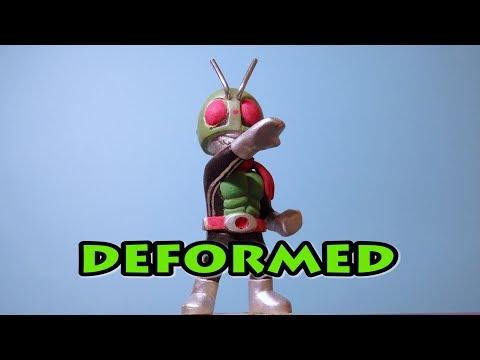 Making of deformed Kamen rider 1 仮面ライダー1号 ミニフィギュア製作