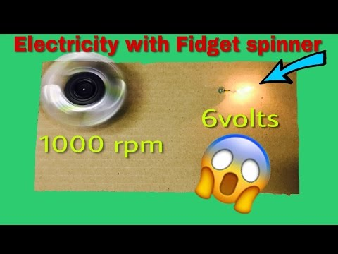 Free Energy With Fidget spinner | 6V Electricity