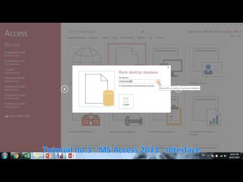 Tutorial no 3   MS Access 2013   Interface By Khezer Mustafa