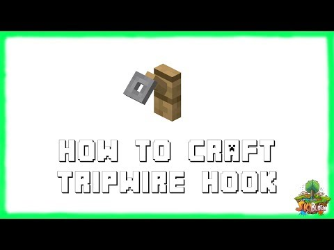 Minecraft 1.12.2: How to Make TRIPWIRE HOOKS! Recipe Tutorial for Minecraft 1.12.2 | 2018