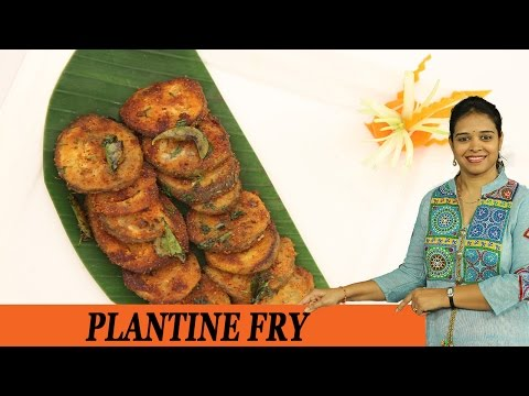 Banana Fry - plantain fry - Mrs Vahchef