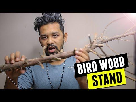 DIY Bird Wood Stand
