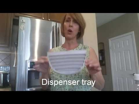 How to clean hard water deposits from your water dispenser tray