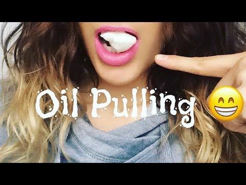 Oil Pulling for white teeth!  DIY (Coconut Oil)