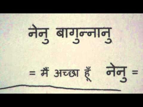 Learn Telugu through Hindi lesson.1
