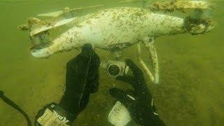 Found Crashed DJI Phantom 4 Drone Underwater at Wakeboard Park! (Unbelievable Finds)