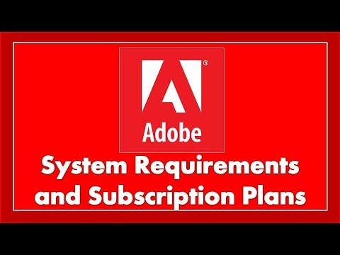 Discussion on System Requirement and Plans of Adobe Creative Cloud