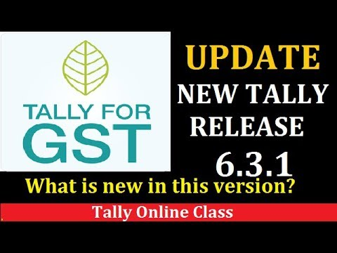 UPDATE NEW TALLY RELEASE 6.3.1 in Tally.ERP9