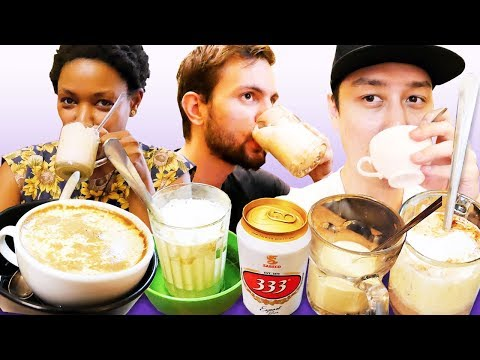 EGG COFFEE, EGG BEER, and Other Unique Drinks in Hanoi (NinjaTeacher & CharlyCheer)