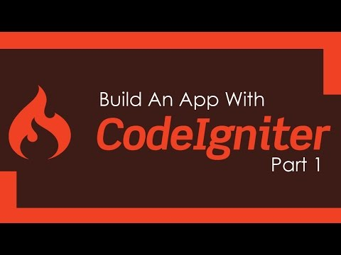 Build A CodeIgniter PHP App - Part 1