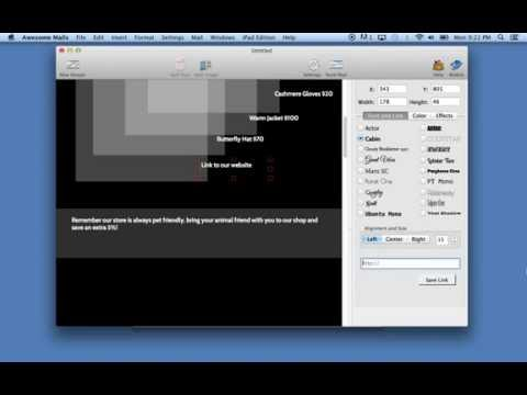 Creating a newsletter using Awesome Mails for Mac