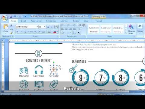 How to replace icon on resume template in Microsoft Word - #2 of 11 @ Replacing Icons
