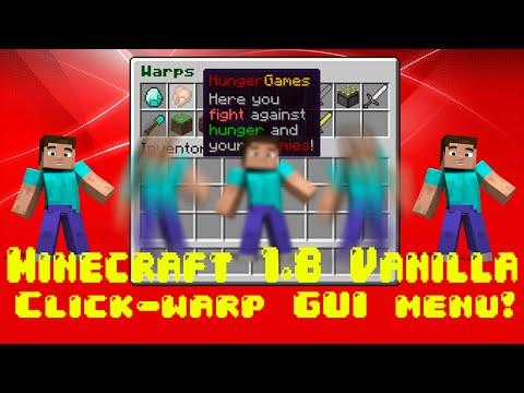 Minecraft Vanilla Warp GUI!