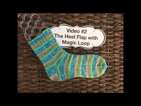 Learn to Knit Socks- #2: The heel flap with magic loop
