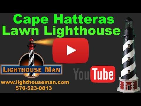 Cape Hatteras Lighthouse Lawn Ornament - Lighthouse Man