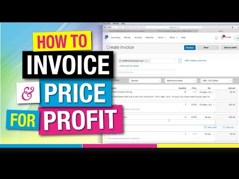 Invoicing and Pricing for Profit Screen Printing T-Shirts
