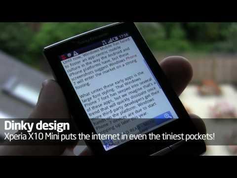 Sony Ericsson Xperia X10 Mini hands-on video