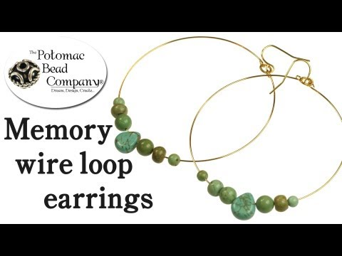How to Make Memory Wire Earrings