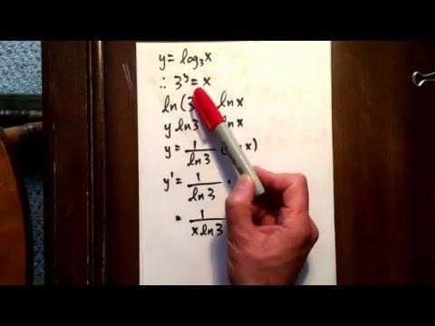 20 derivative of a logarithm