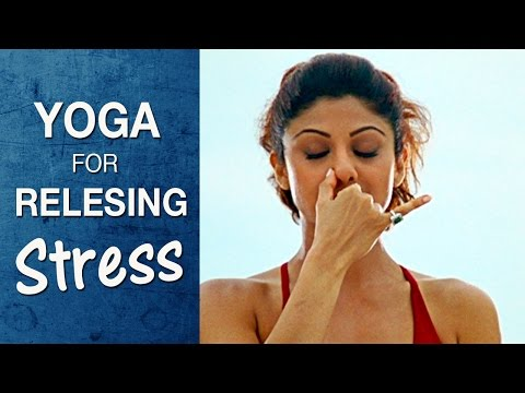 Yoga for Releasing Stress and Anxiety - Anulom Vilom Pranayama (Hindi) - Shilpa Yoga