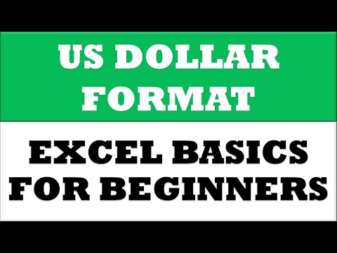 How to Change Value to US Dollar Currency Format in MS Excel 2016