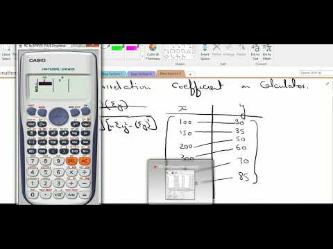 using calculator to compute correlation coefficient
