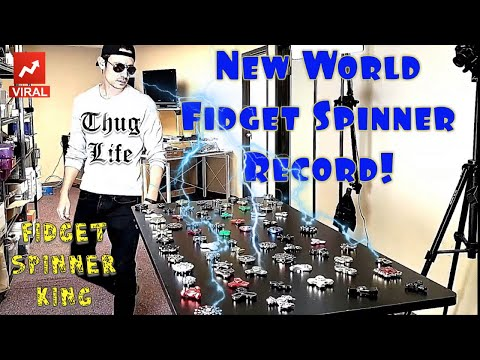 New World Fidget Spinner Record by the Fidget Spinner King (75 Spinners Under 30 Seconds)
