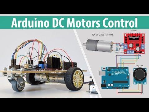 Arduino DC Motor Control Tutorial - L298N | H-Bridge | PWM | Robot Car