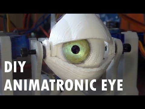 DIY Animatronic Eye Mechanism 3D Printed