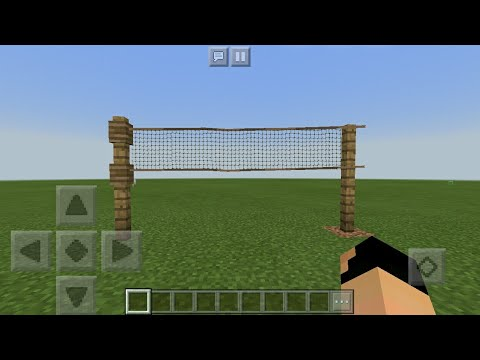 MCPE 1.2 How To Make A Realistic Tennis Net | Command Block Creation