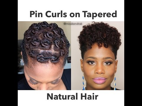 Pin Curls on Tapered Natural Hair   2 Methods
