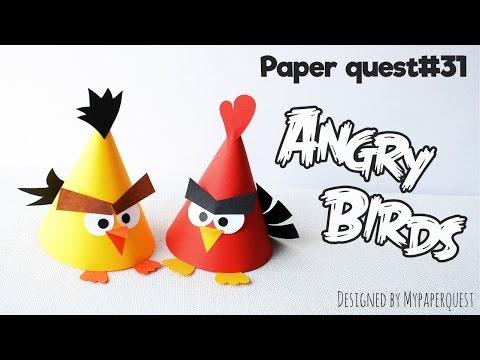 Как сделать поделку Angry Birds Энгри Бердз своими руками / How to make Angry Birds - My Paper Quest