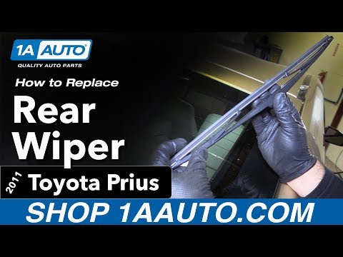 How to Replace Install Rear Wiper Blade 11 Toyota Prius