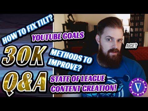 Improving, Handling Tilt, League Content, YouTube plans and more! (30k sub Q & A)
