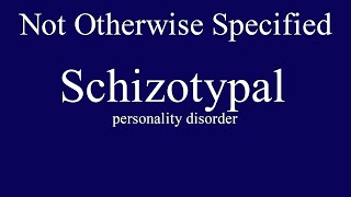 Schizotypal personality disorder is the oddball group. You know them when you see them.