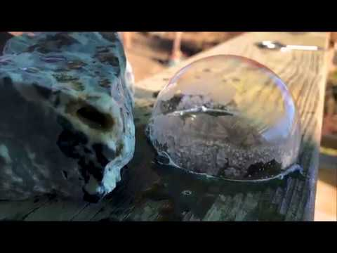 Frozen Bubbles - Blowing bubbles in cold temperatures and watch the ice crystals grow