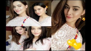 Aiman Khan & Minal Khan Eid Celebration Pictures.