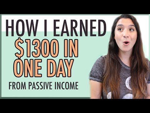 MAKE MONEY BLOGGING ● HOW I EARNED $1,300 IN ONE DAY ● PASSIVE INCOME