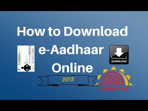 How To Download Aadhaar Card Just Under 1 Minute Easy Steps2015 [HD]