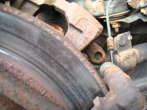 Mazda 6 rear brake caliper inspection