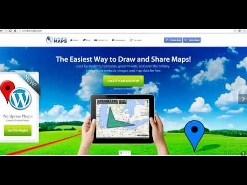 How to create a multimedia map on Scribble Maps.