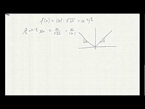 The derivative of the absolute value function (not defined at zero)