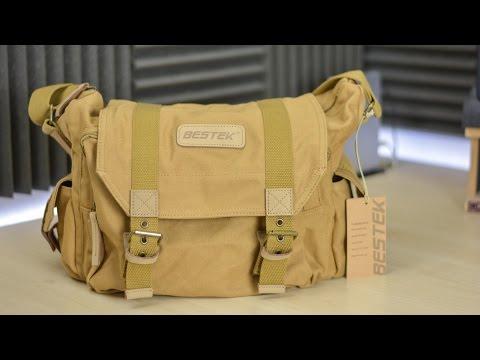 BESTEK Khaki Canvas Waterproof DSLR Camera Bag Review