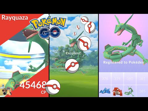 Pokémon GO   How To Catch Rayquaza With Excellent Throws!   Throwing Tutorial   Circle Lock Method
