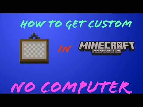 How to Install custom painting In Minecraft PE NO COMPUTER